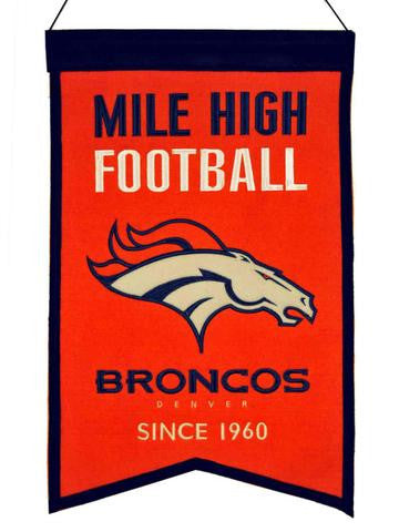 "Broncos Orange ""Mile High Football"" Banner"