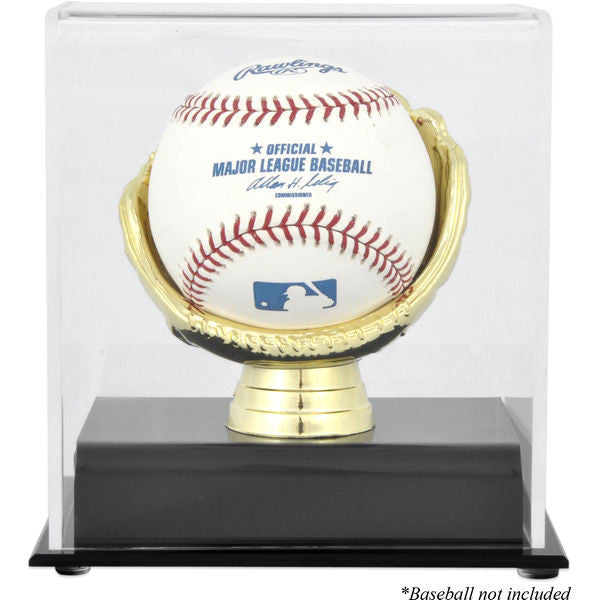 Gold Glove Single Baseball Display Case - Latitude Sports Marketing