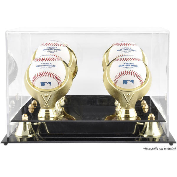 Golden Classic Four Baseball Logo Display Case - Latitude Sports Marketing
