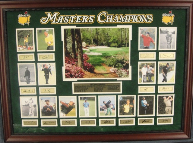 Masters Champions Photos and Laser Sigs.