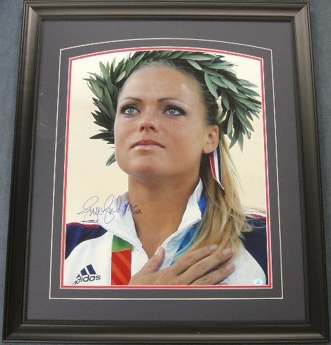 Jennie Finch Signed Framed 16x20 Photo