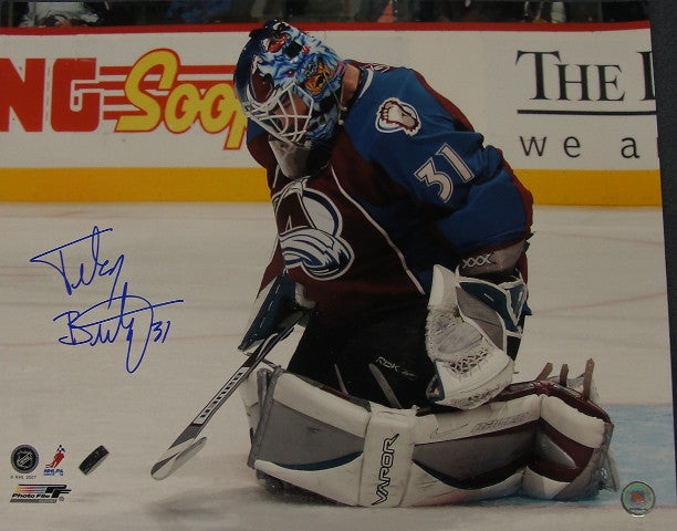 Peter Budaj Signed 16x20 Photo - Latitude Sports Marketing