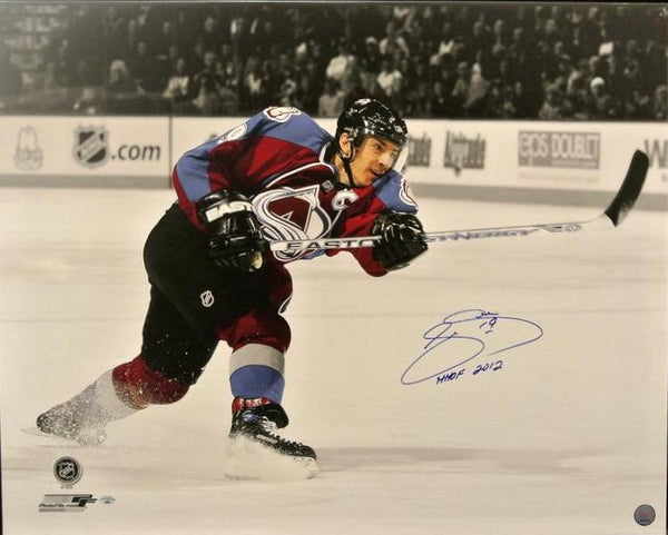 Joe Sakic Signed Canvas Unframed - Latitude Sports Marketing