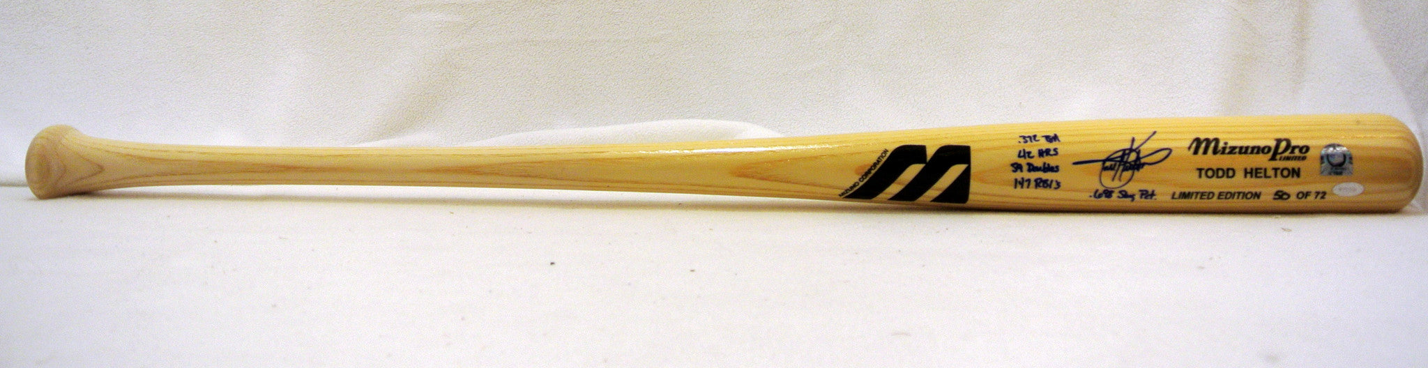Todd Helton Autographed Limited Edition Mizuno Pro w/Inscription