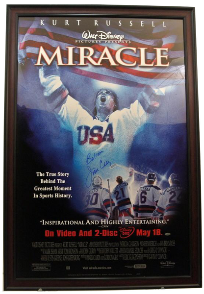 USA Miracle on Ice Movie Poster Signed by Jim Craig - Latitude Sports Marketing