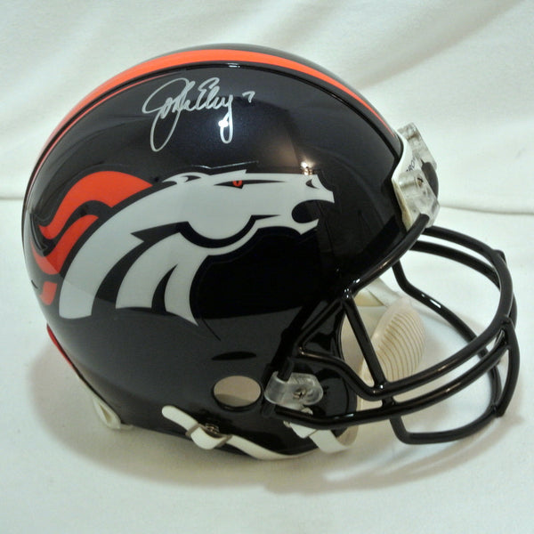 John Elway Signed Pro Helmet w/ Current Logo LSM COA - Latitude Sports Marketing