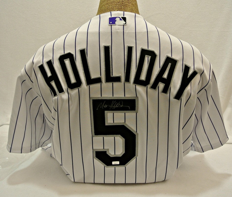 Matt Holliday autographed White Authentic Jersey