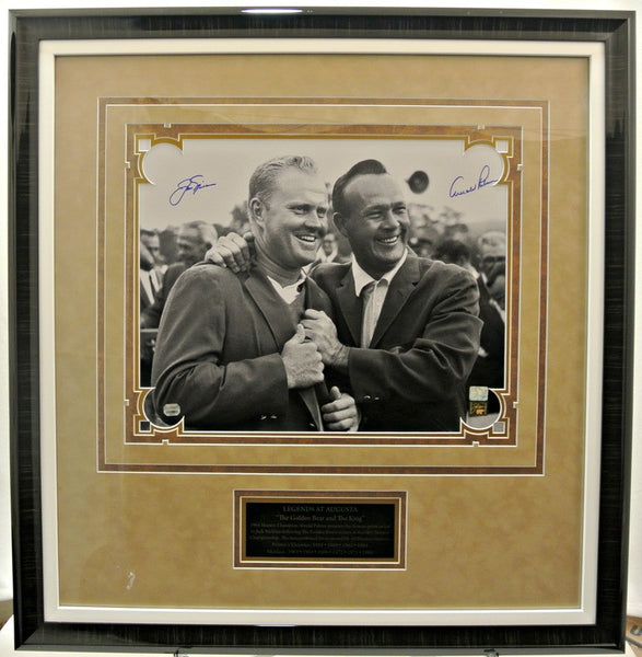 Nicklaus and Palmer dual signed 16x20 Photo from the 66 Masters