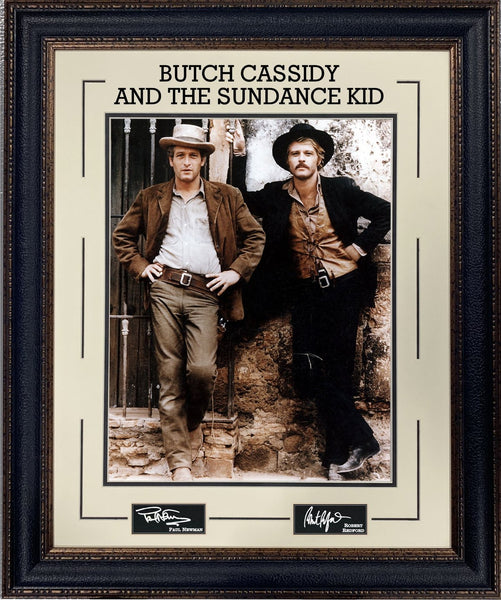 "Paul Newman & Robert Redford ""Butch Cassidy..."" Photo Framed with Laser Signatures"