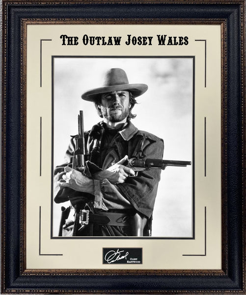 Clint Eastwood - The Outlaw Josey Wales Framed Photo with Laser Signature