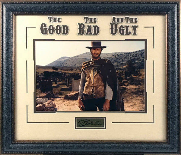 Clint Eastwood Framed Photo with Laser Signature (The Good, The Bad, And The Ugly)