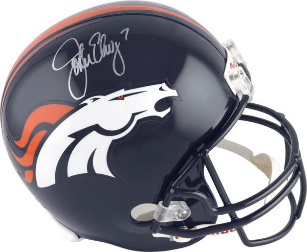 John Elway Signed Denver Broncos Helmet LSM JSA COA (Current Logo) - Latitude Sports Marketing