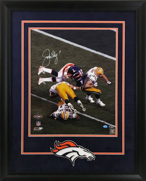 John Elway Signed 16x20 Framed Photo with Deluxe Framing - Latitude Sports Marketing