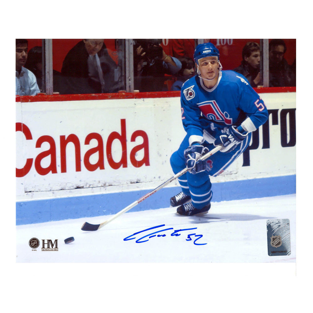 Adam Foote Autographed 8x10 Quebec Nordiques Photo LSM COA