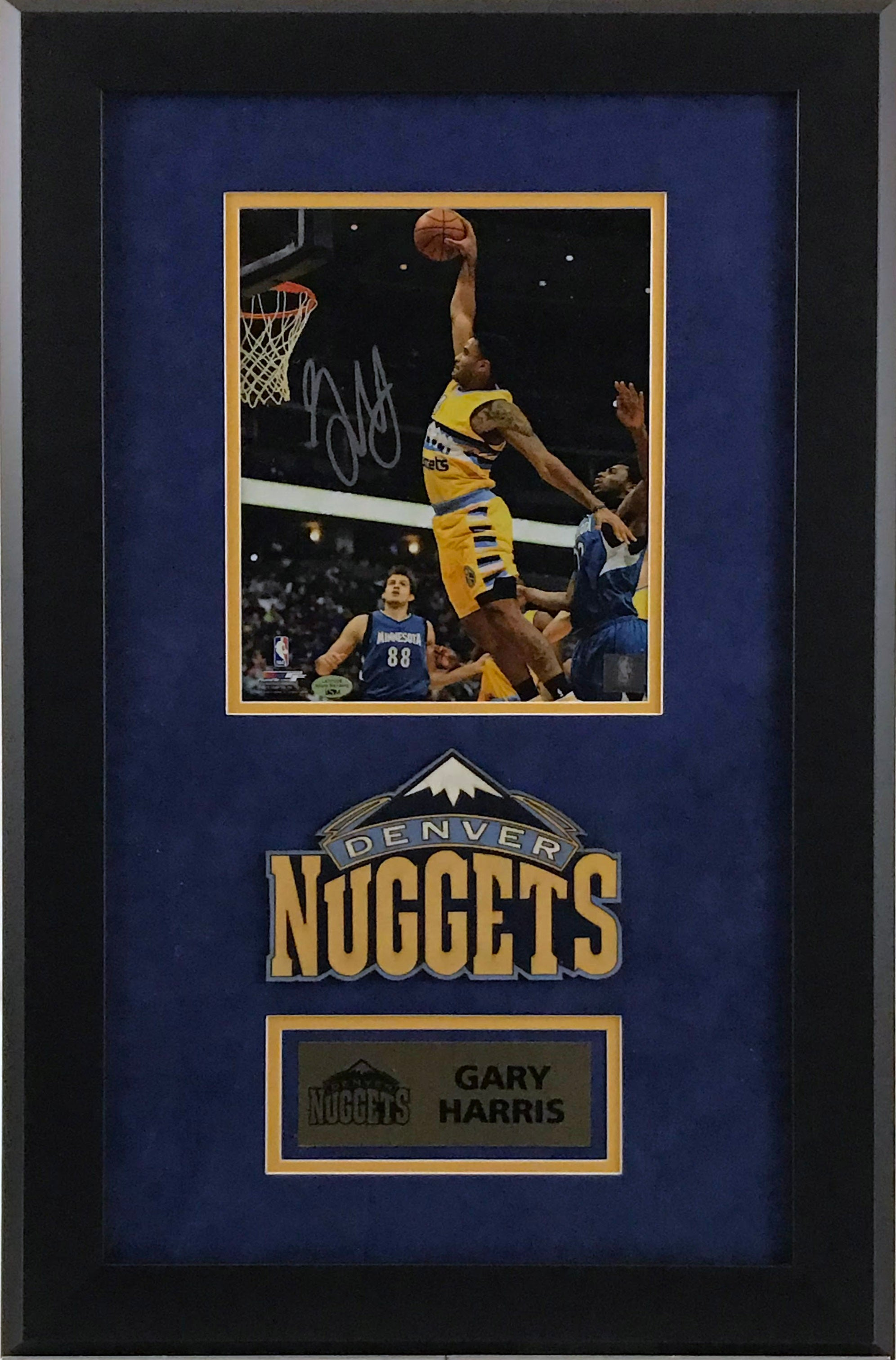 Gary Harris Signed 8x10 Photo - Deluxe Frame