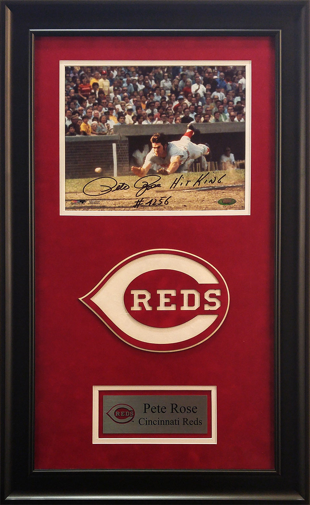 Pete Rose Signed Framed 8x10 Photo