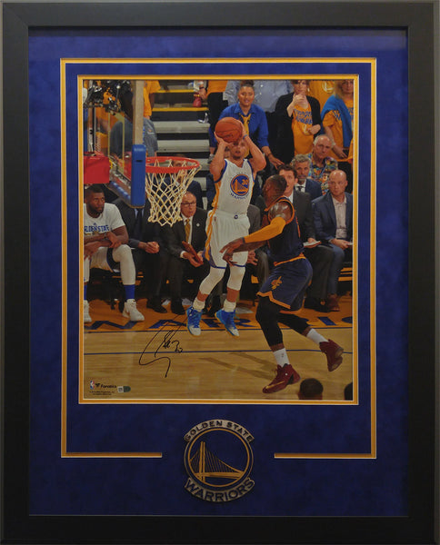 Deluxe Framed Stephen Curry vs. LeBron James Signed 16x20 Photo