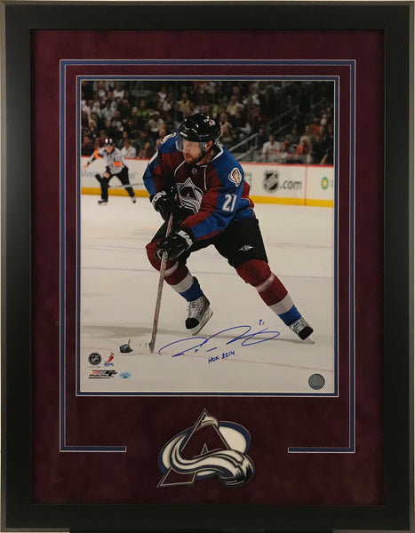 Peter Forsberg Signed and Deluxe Framed 16x20 Photo with Inscription - Latitude Sports Marketing