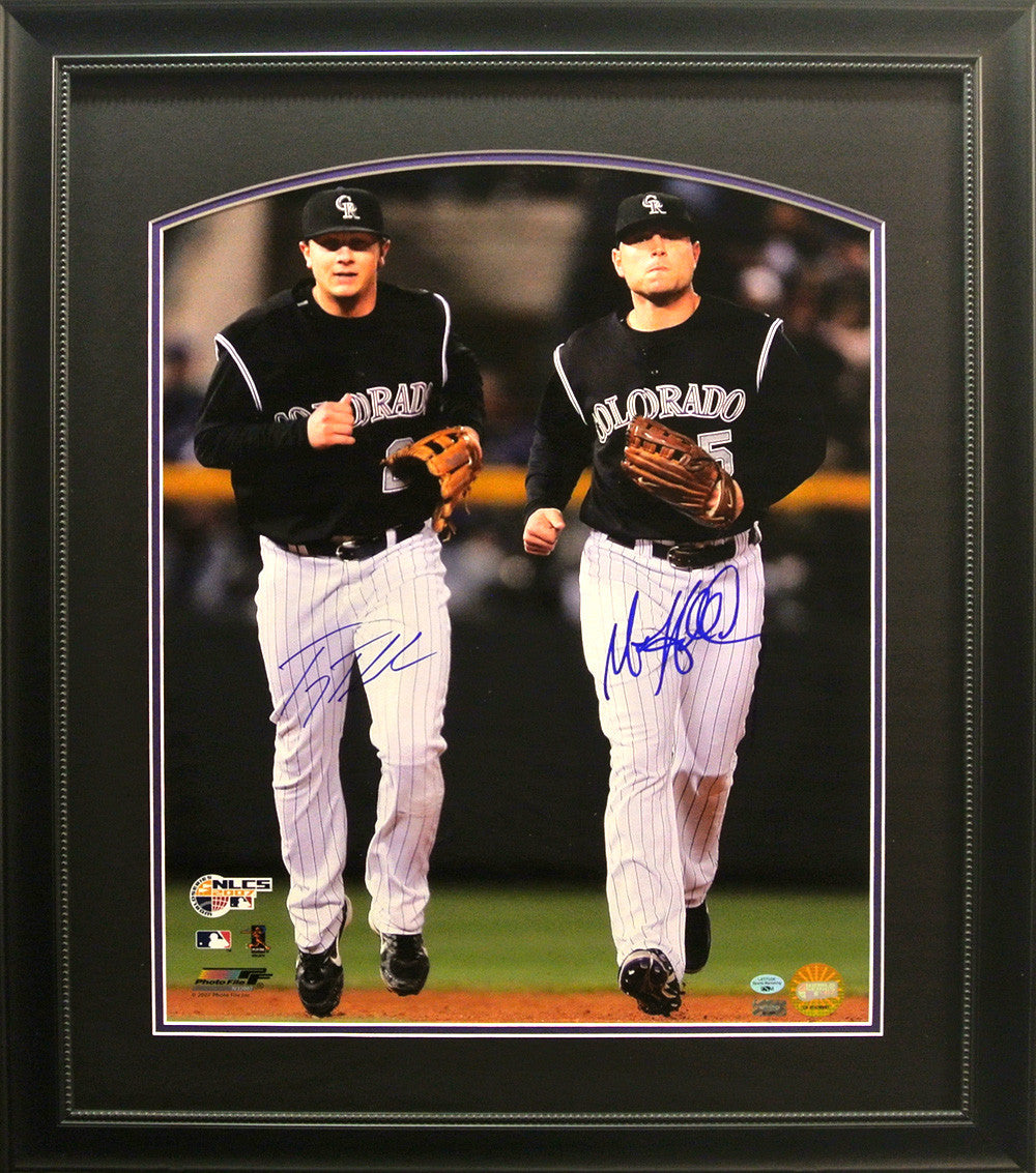 Troy Tulowitzki and Matt Holliday Hand Signed NLCS Framed 16X20 Photo