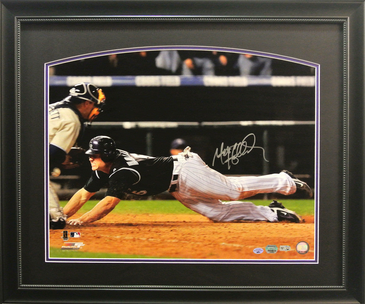 Matt Holliday Autographed Framed 16x20 Photo 2007 NL WC Tie-Breaker Game