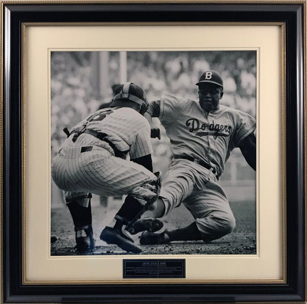 Jackie Robinson Steals Home Against Yogi Berra 20x20 Photo