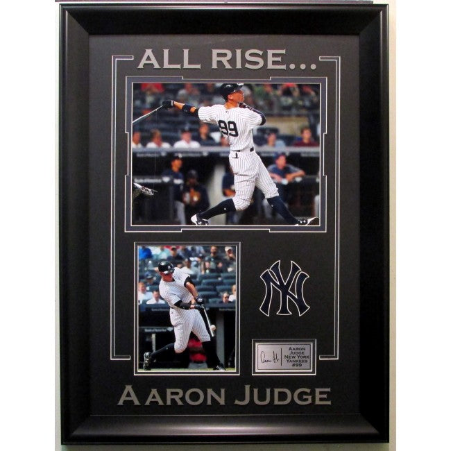 Aaron Judge New York Yankees Collage With Laser Signature Framed - Latitude Sports Marketing