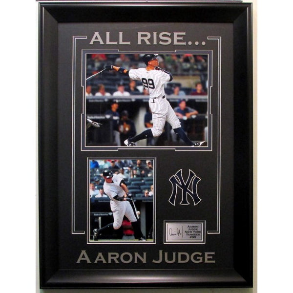 Aaron Judge New York Yankees Collage With Laser Signature Framed