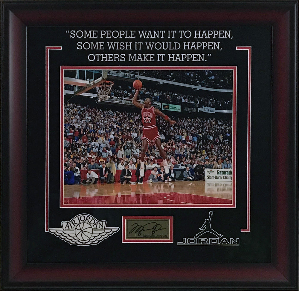 Michael Jordan Framed Photo w/ Laser Signature and Quote - Latitude Sports Marketing