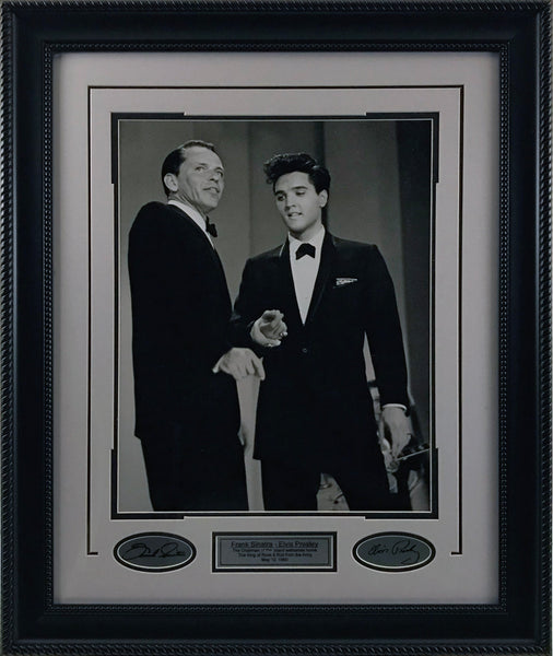 Elvis & Sinatra Framed 11x14 Photo w/ Laser Signatures