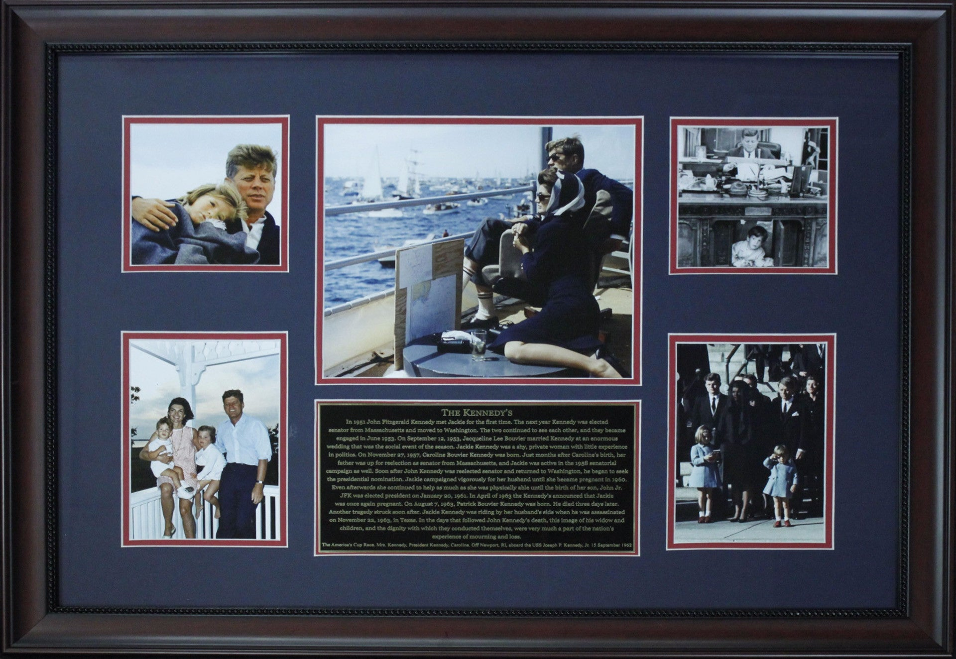John F. Kennedy Framed Photo Collage
