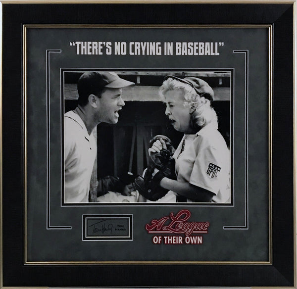 A League of Their Own - Tom Hanks Framed Photo w/ Laser Signature - Latitude Sports Marketing