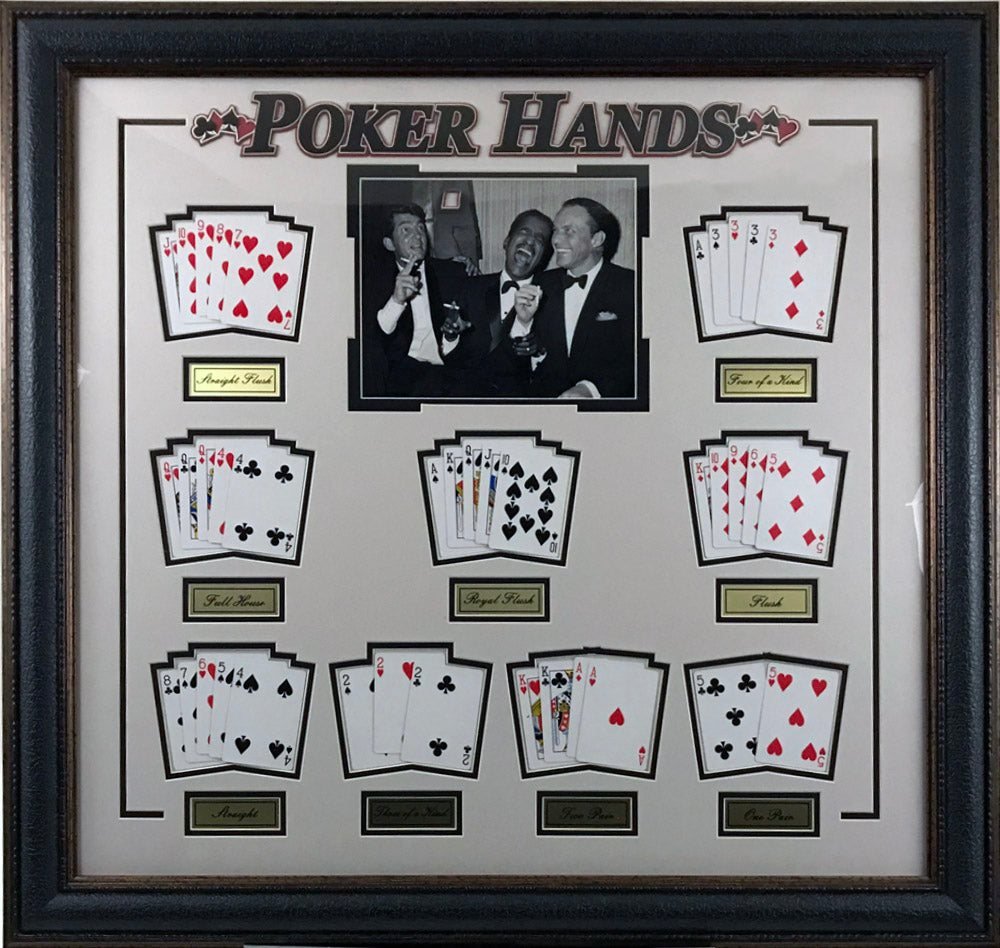 Rat Pack: Poker Hands Collage - Latitude Sports Marketing