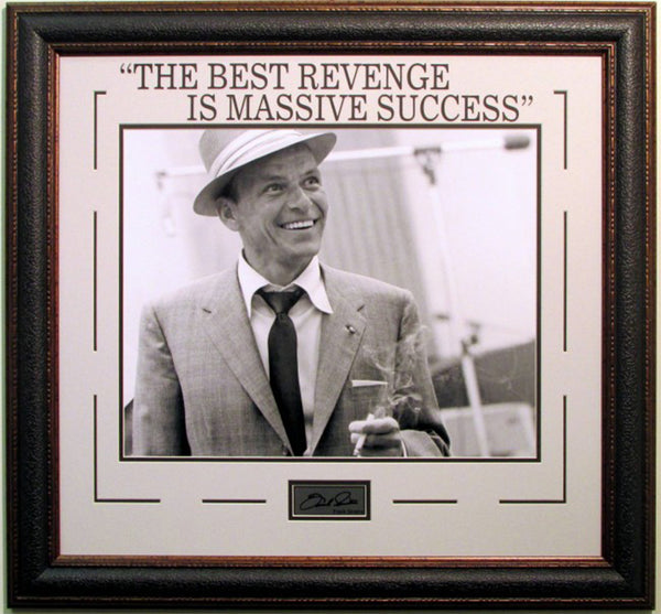 Frank Sinatra Revenge Framed Photo w/ Laser Signature - Latitude Sports Marketing