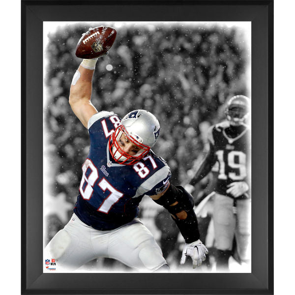 Rob Gronkowski New England Patriots Framed 20'' x 24'' In the Zone Photograph - Latitude Sports Marketing