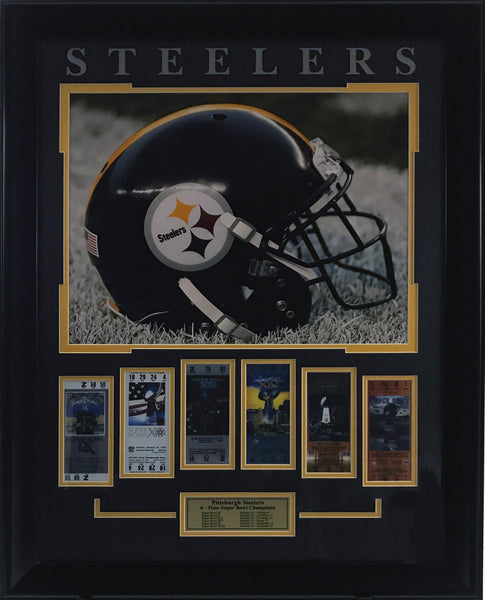 Pittsburgh Steelers Framed 16x20 Photo with Replica Tickets