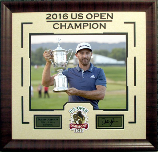 Dustin Johnson Deluxe Framed Photo with Laser Signature - Latitude Sports Marketing