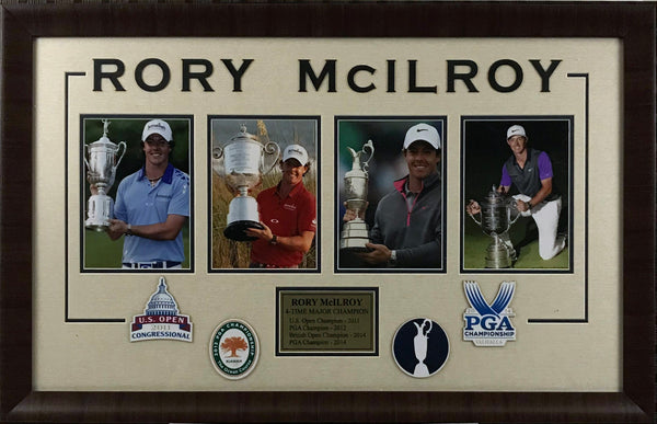 Rory McIlroy Framed 4 Majors Photo Collage - Latitude Sports Marketing