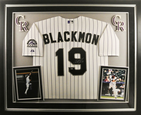 Charlie Blackmon Deluxe Framed Signed Jersey