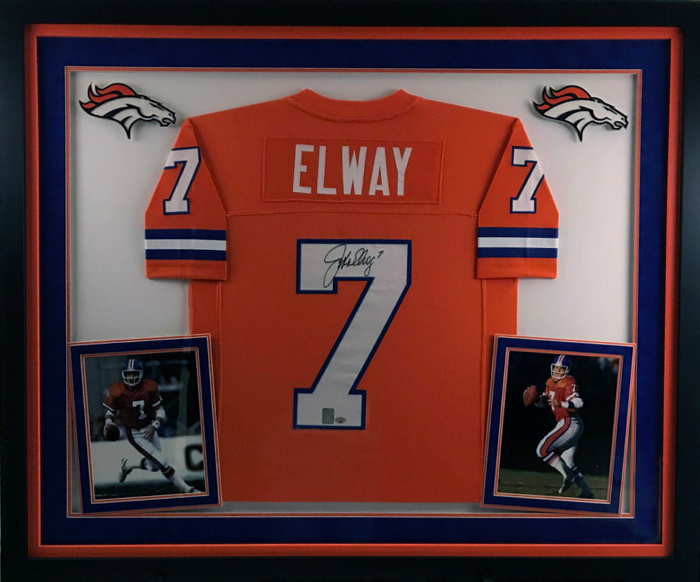 John Elway Signed Jersey - Deluxe Frame