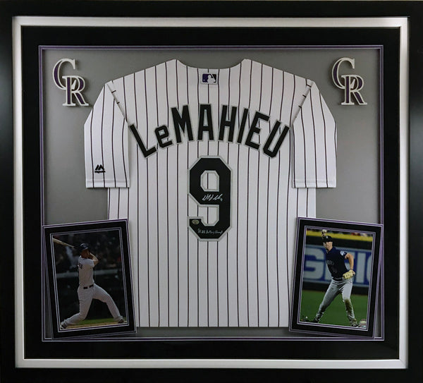 DJ LeMahieu Signed and Framed Jersey
