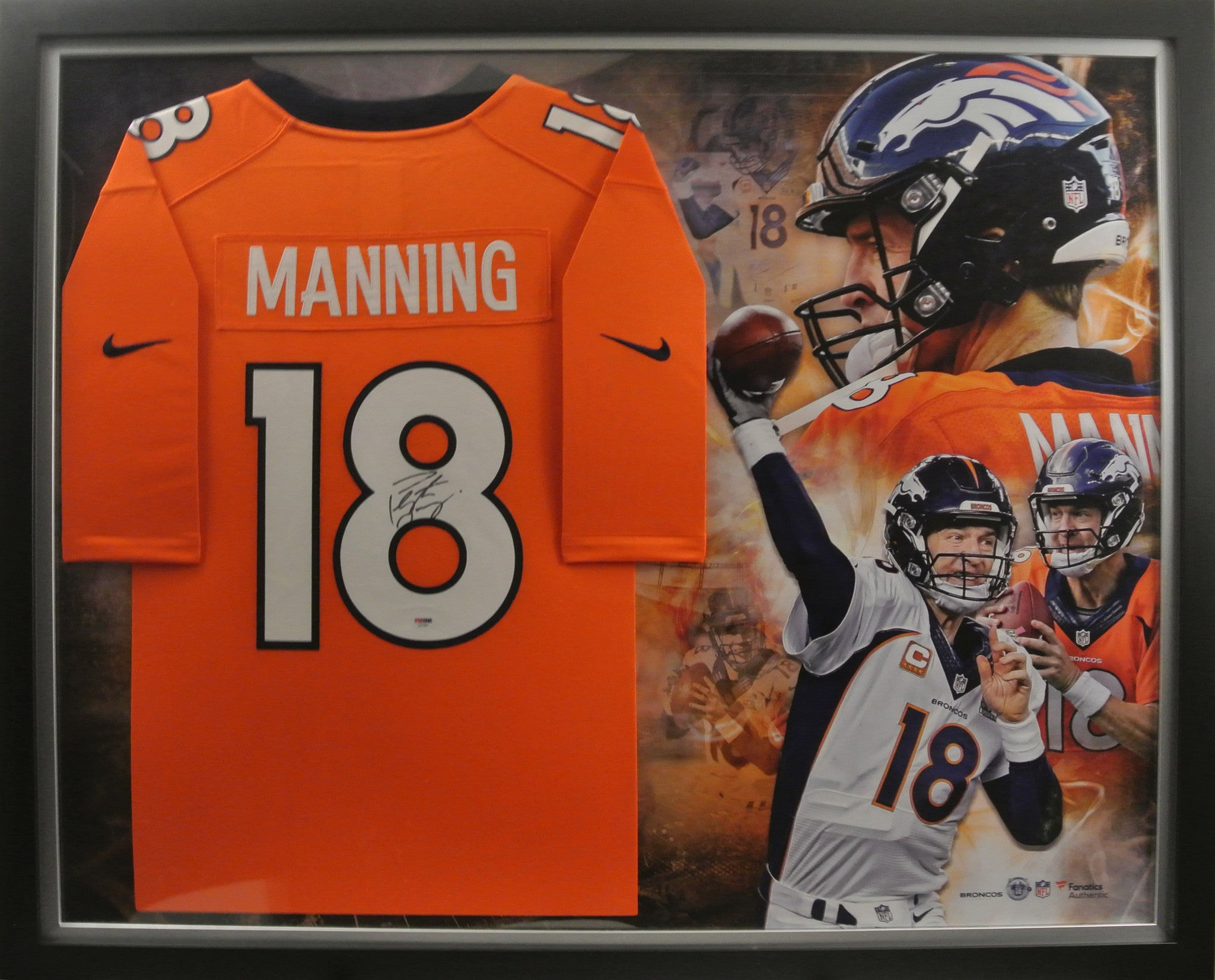 Peyton Manning Denver Broncos Signed and Framed Jersey