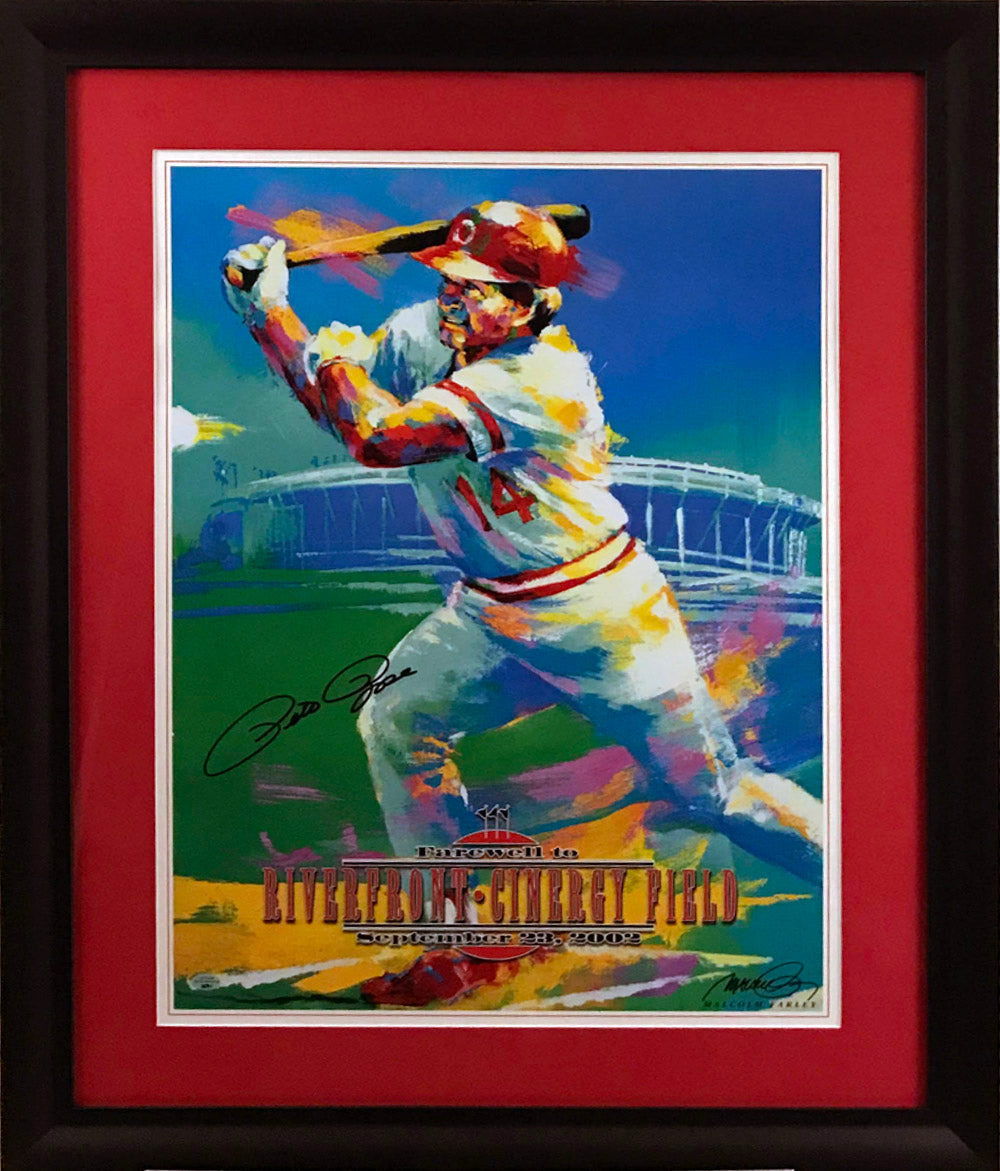 Pete Rose Signed and Framed Lithograph - Latitude Sports Marketing
