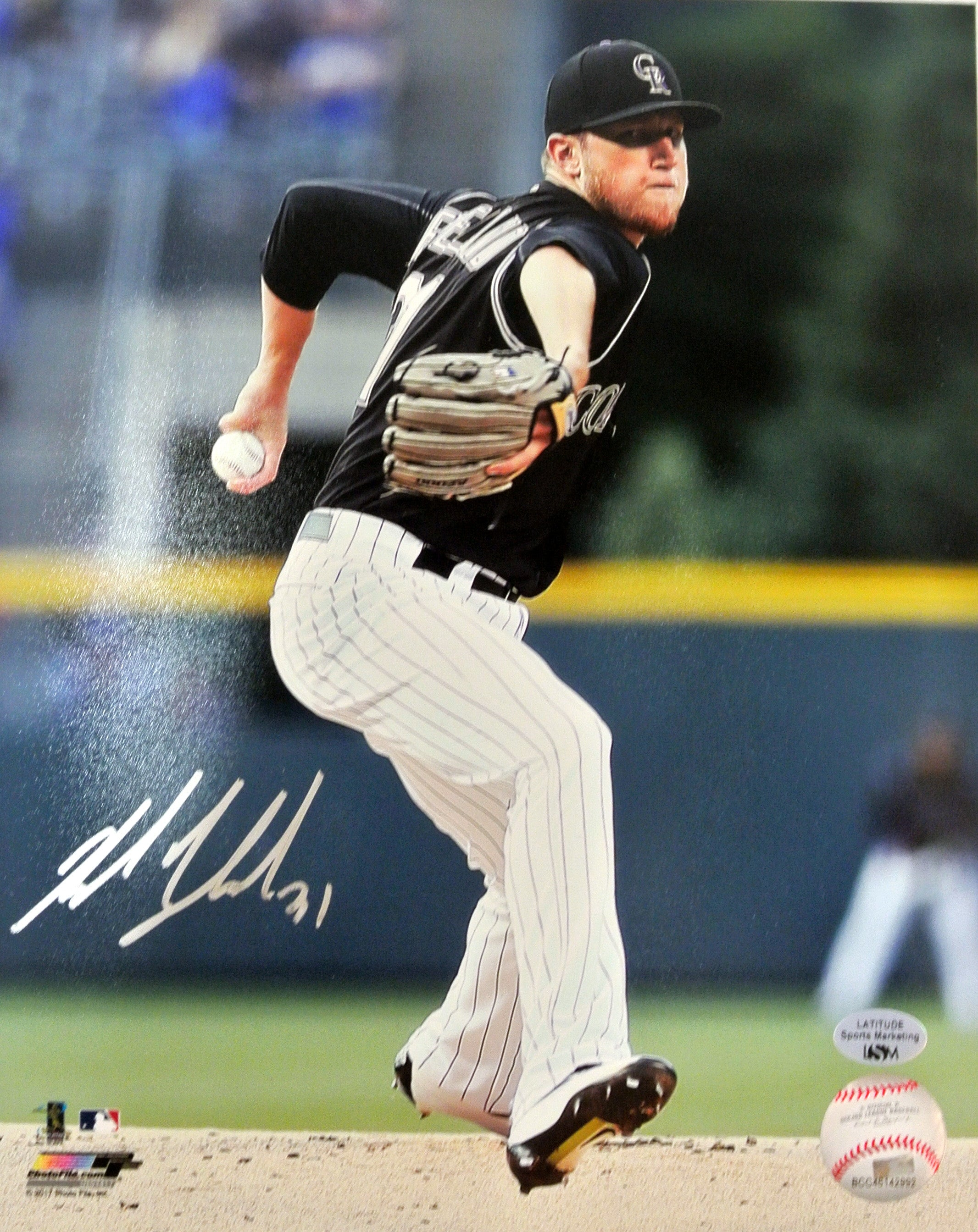Kyle Freeland Signed Action 8x10 Photo (Blowout)