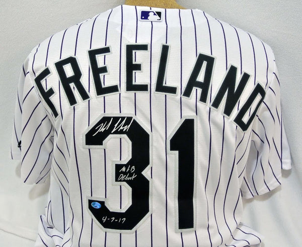 Kyle Freeland Signed Colorado Jersey with Inscription