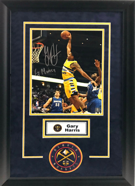 Gary Harris Signed 11x14 Photo - Deluxe Frame with New Logo