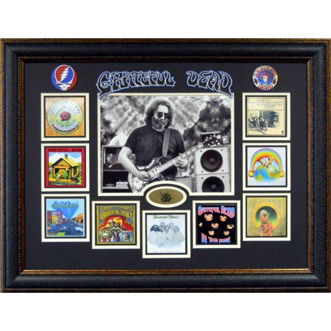 Grateful Dead Framed Album Collage w/ Laser Signature - Latitude Sports Marketing