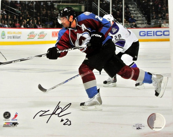 Milan Hejduk Signed 8x10 Photo (Horizontal)