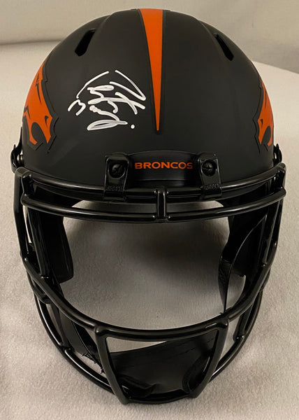 Peyton Manning Autographed Denver Broncos Eclipse Helmet (Replica) - Latitude Sports Marketing