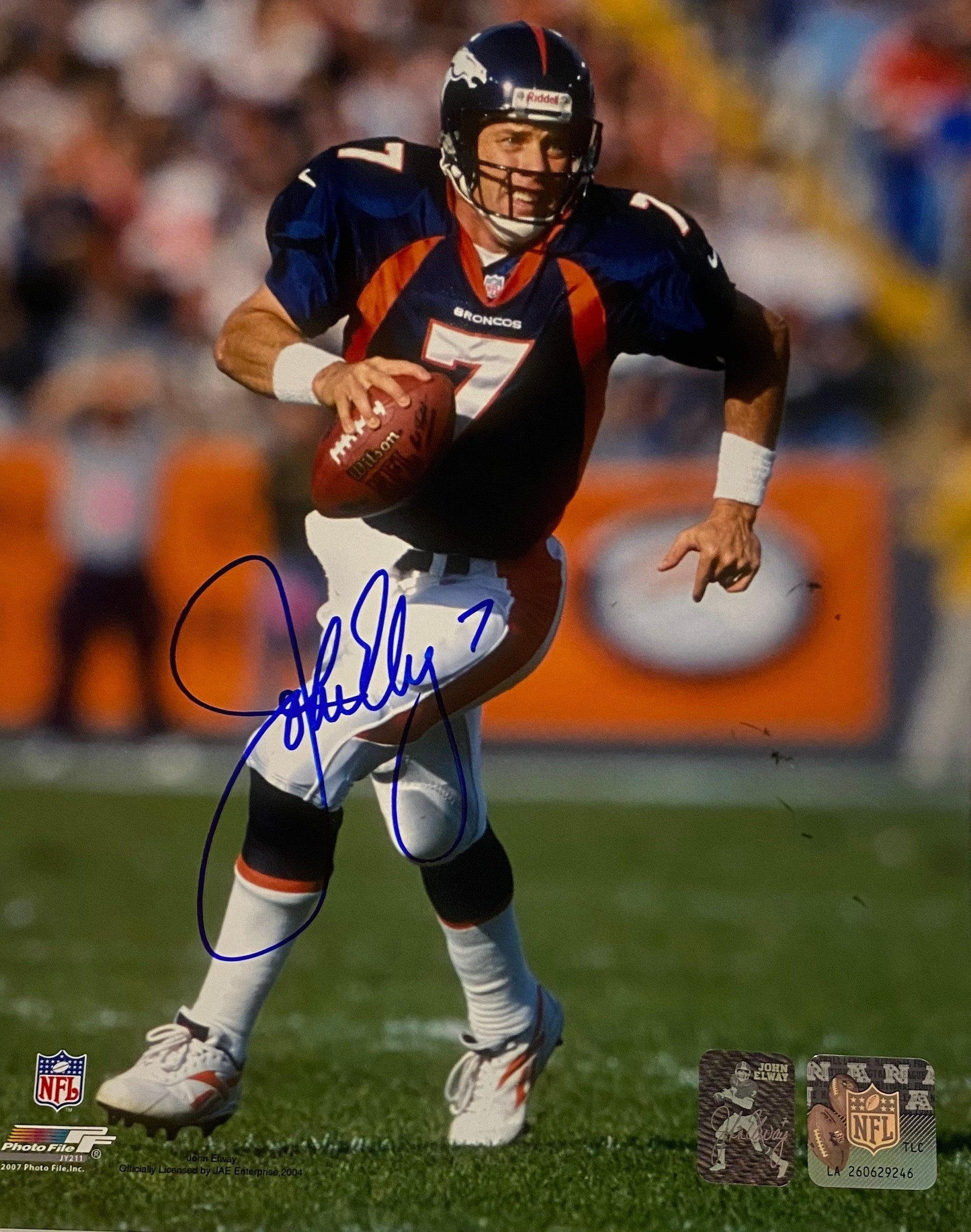 John Elway Autographed Signed 8x10 Photo w/ Hologram