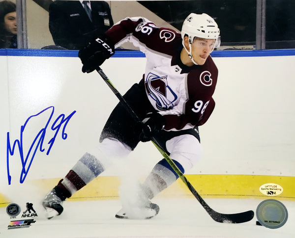 Mikko Rantanen Signed 8x10 Photo (White Uniform Skating)